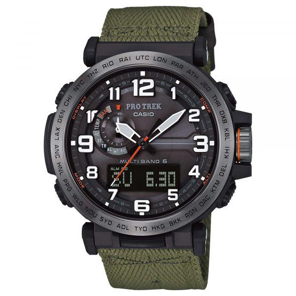 Casio Uhr Pro Trek Monte Tamaro PRW-6600YB-3ER schwarz oliv