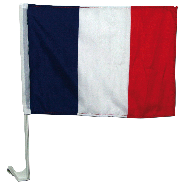 Fan-Set mit Frankreich-Fahne+Autohalterung