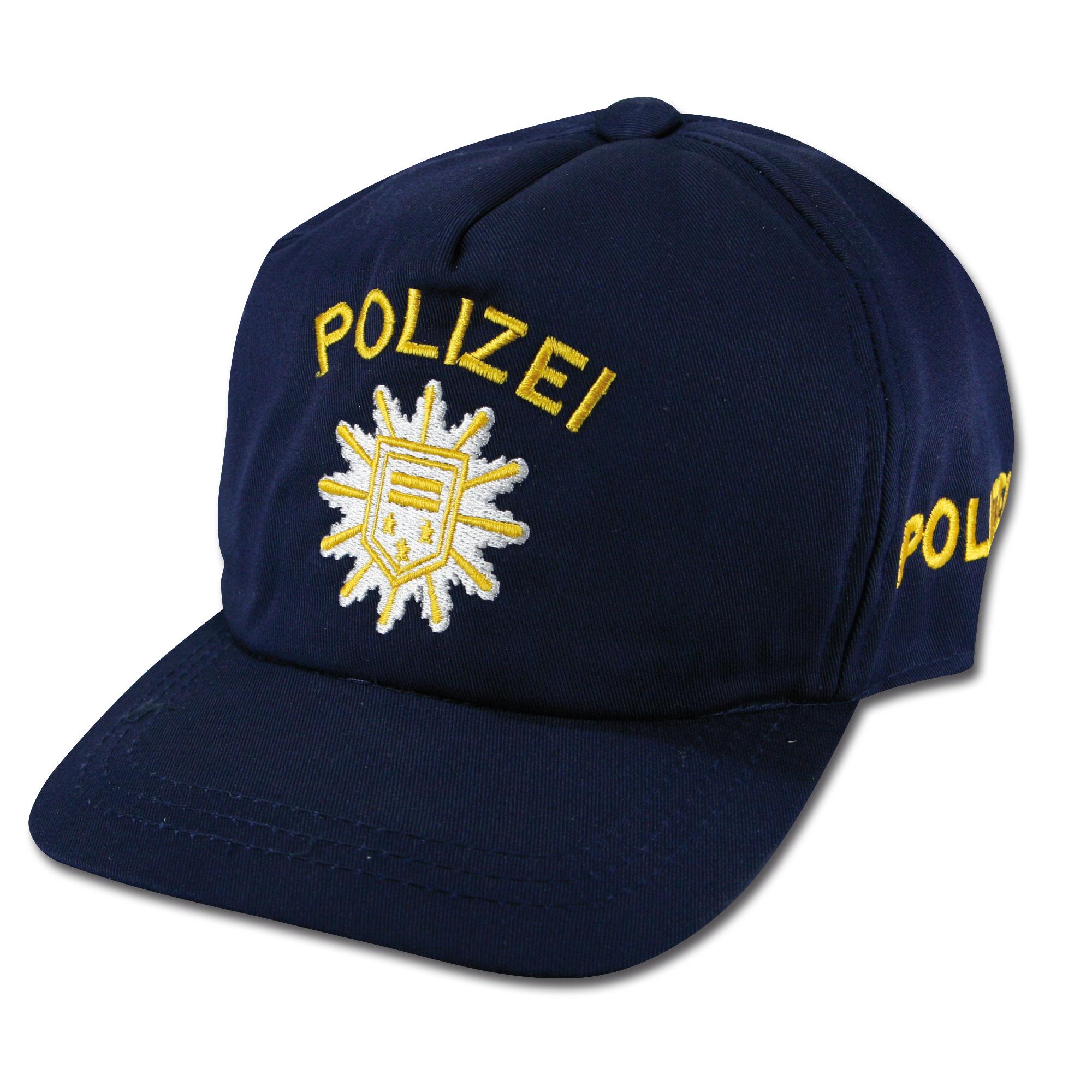 Kinder Polizei Baseballcap blau