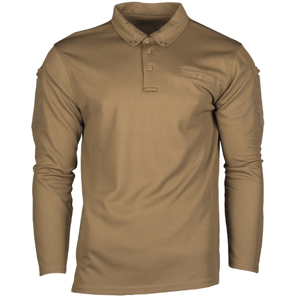 Mil-Tec Tactical Quick Dry Poloshirt dark coyote
