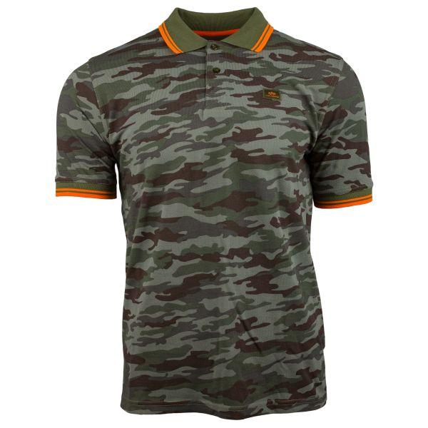 Alpha Industries Shirt Twin Stripe Polo woodland