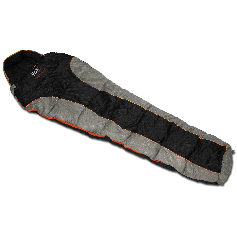 Mumienschlafsack Fox Outdoor Advance schwarz/grau