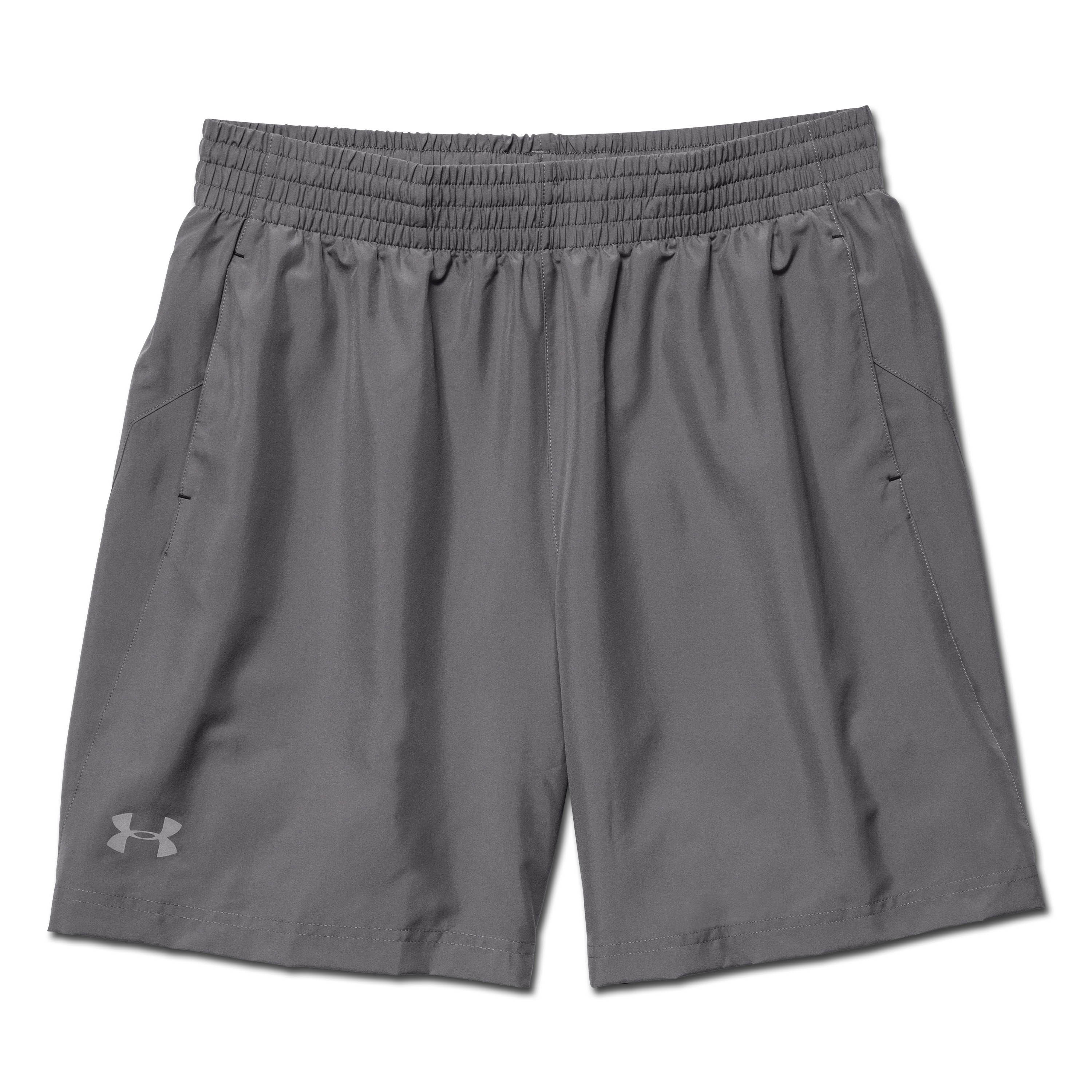 Under Armour Launch Woven Shorts 17 cm grau