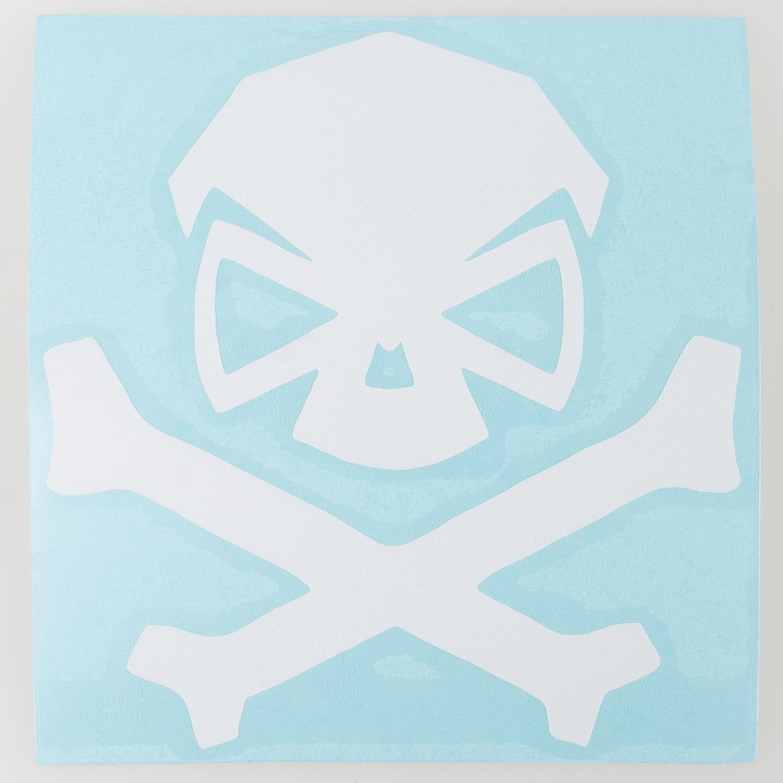 Pipe Hitters Union Skull & Bones Aufkleber klein weiß