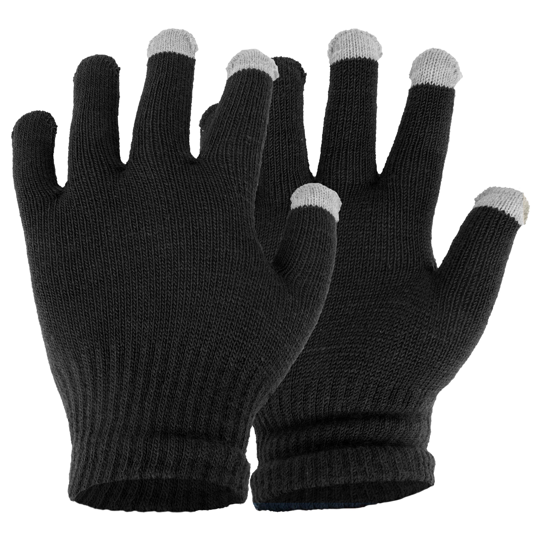 Touchscreen Herren-Handschuhe schwarz