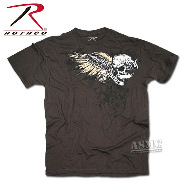 T-Shirt Black Ink Vintage brown Death