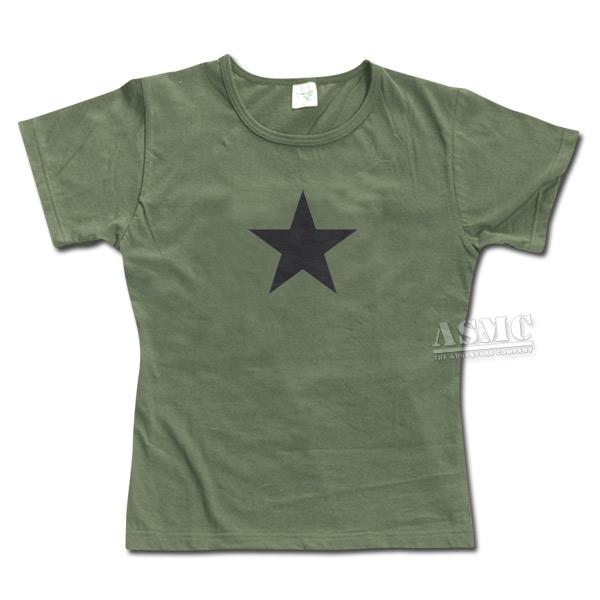 T-Shirt Girly oliv Black Star