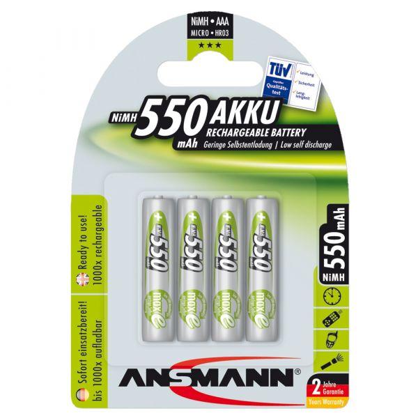 Akku Ansmann NiMH Micro AAA Green-Line 4er-Pack