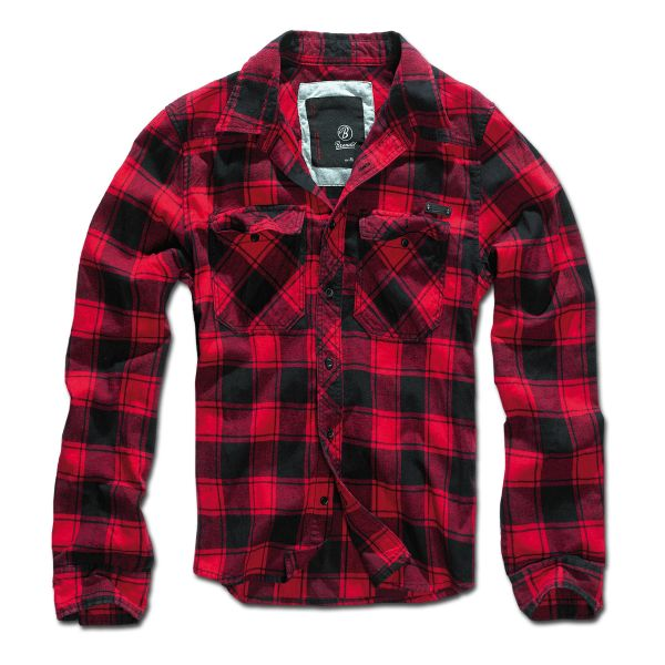 Brandit Checkshirt schwarz rot