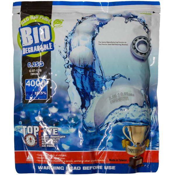 G&G Bio Airsoft BBs 6 mm 0.25 g 4000 Stück weiß