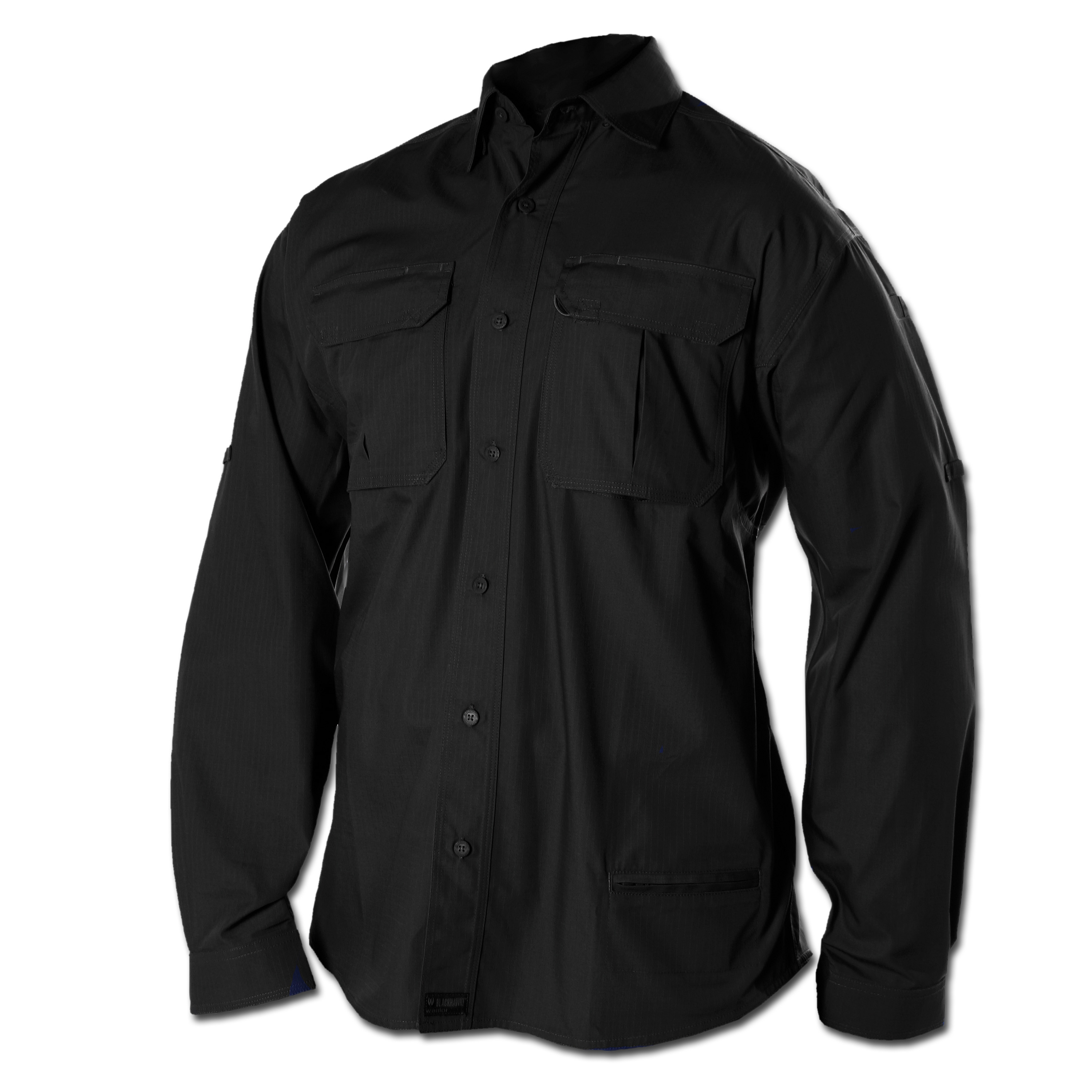 Blackhawk Performance Cotton Tactical Shirt Long Sleeve schwarz