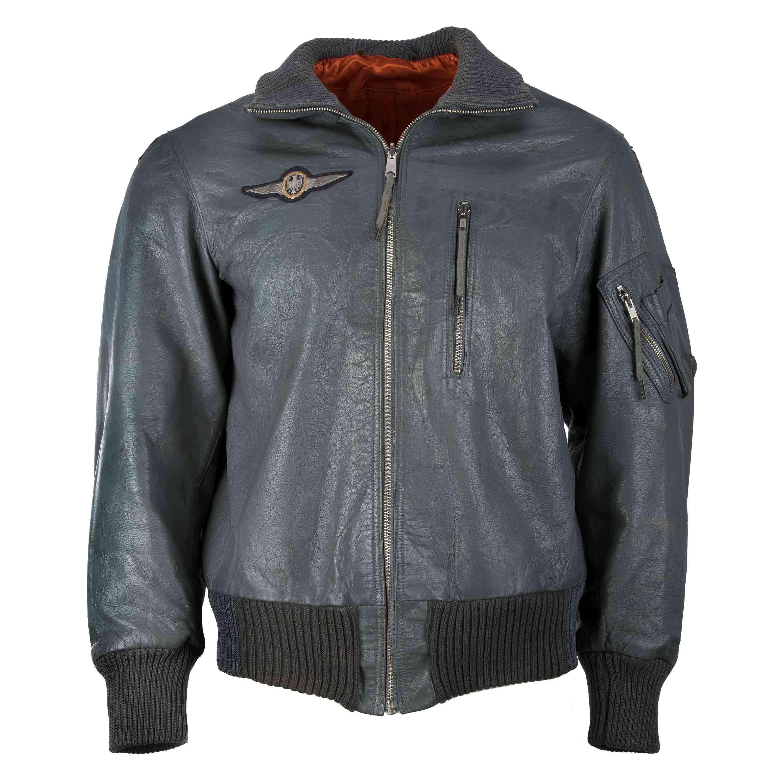 BW Fliegerjacke Leder grau gebraucht