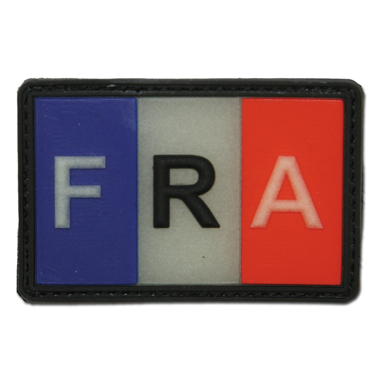 3D-Patch Frankreich Fahne