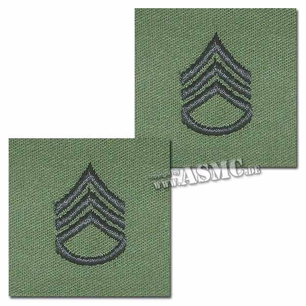 Rangabzeichen US Textil Staff Sergeant
