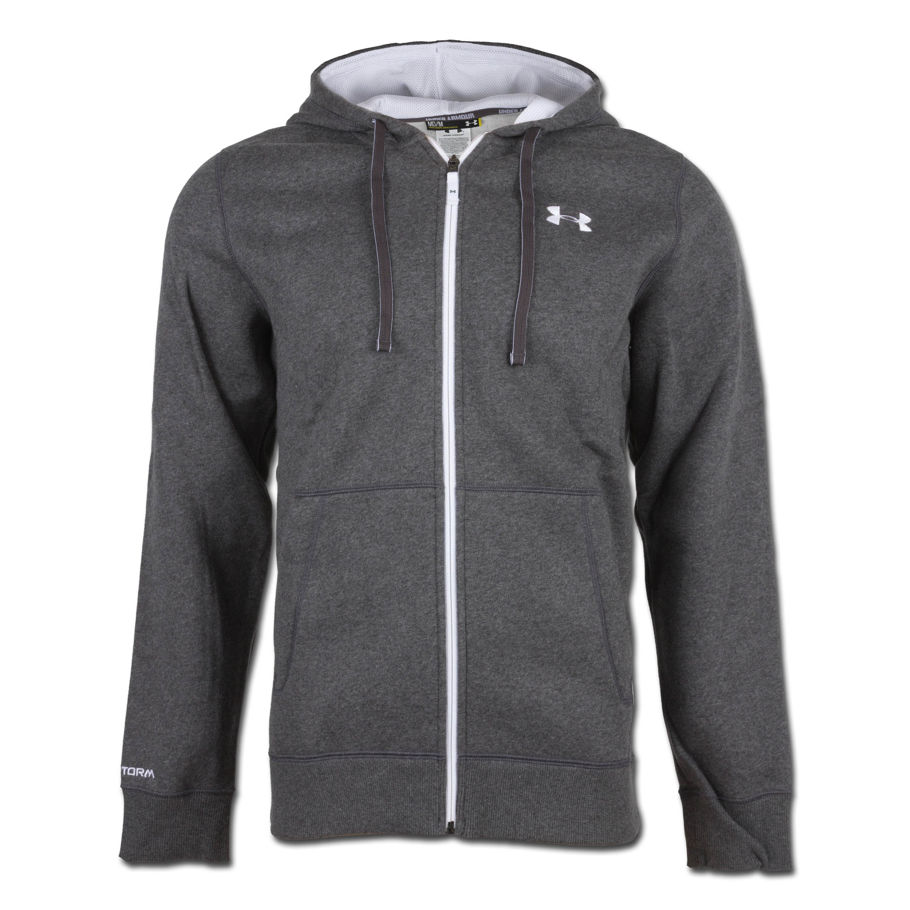 Under Armour Charged Cotton Rival Shirt Full Zip anthrazit