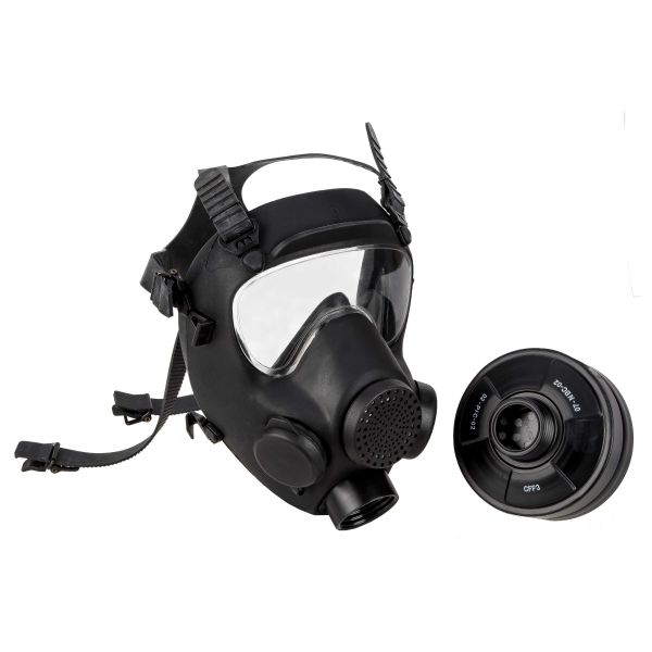 Polnische Schutzmaske MP5 schwarz neuwertig