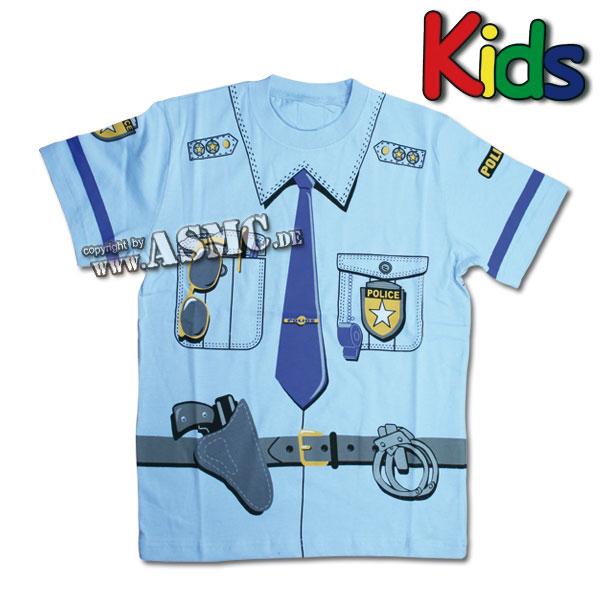Kinder T-Shirt Police blau