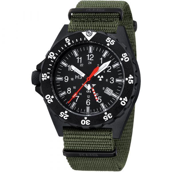 KHS Uhr Shooter GMT Natoband oliv