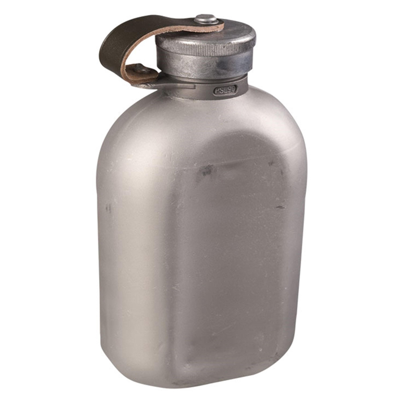 BW Feldflasche Aluminium mit Hülle tarn gebraucht