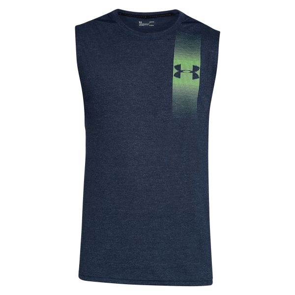 Under Armour Tanktop Threadborne Graphic Muscle blau