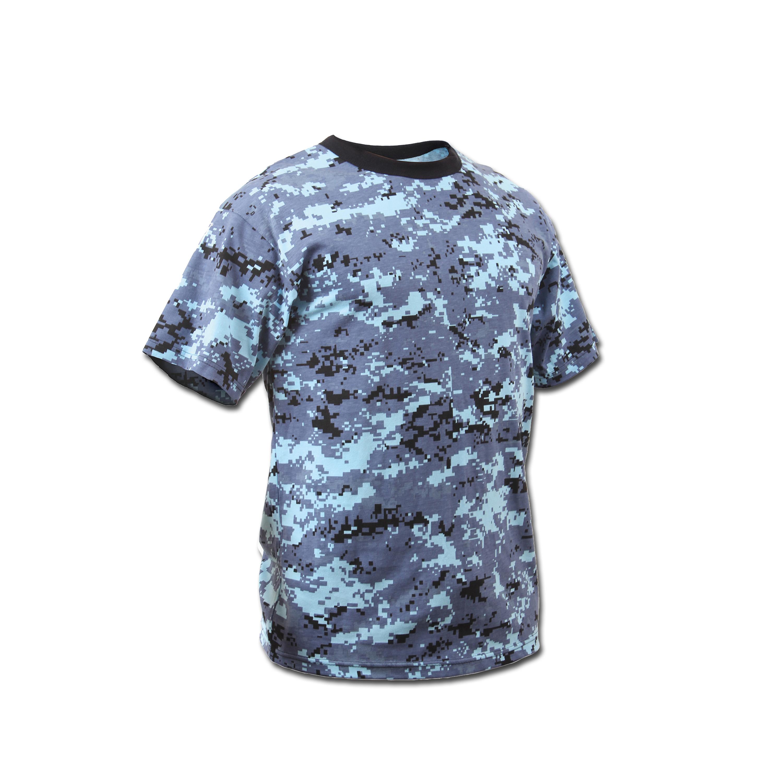 T-Shirt Rothco Digital Camo sky blue