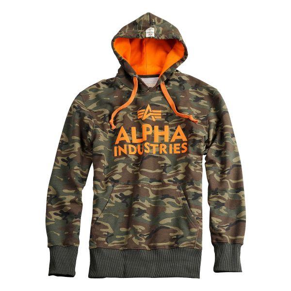 Alpha Industries Foam Print Hoody woodl. camo