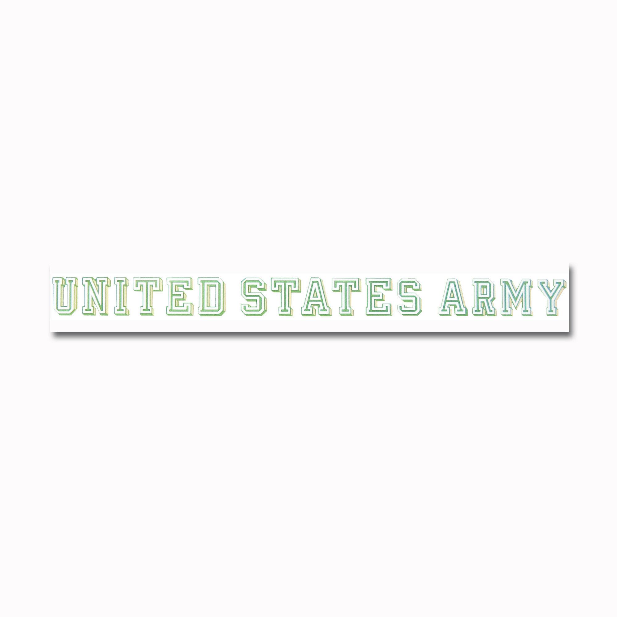 Fenster Sticker UNITED STATES ARMY transparent