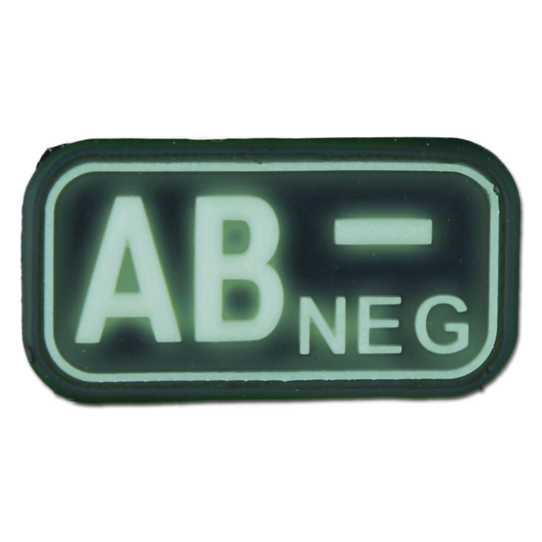 3D Blutgruppenpatch AB Neg nachleuchtend
