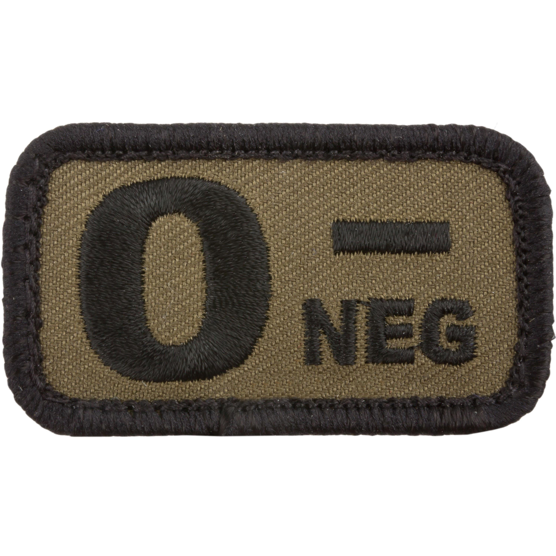 Café Viereck Patch Blutgruppe 0 neg