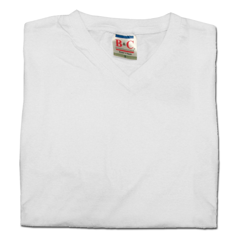 T-Shirt V-Neck weiss