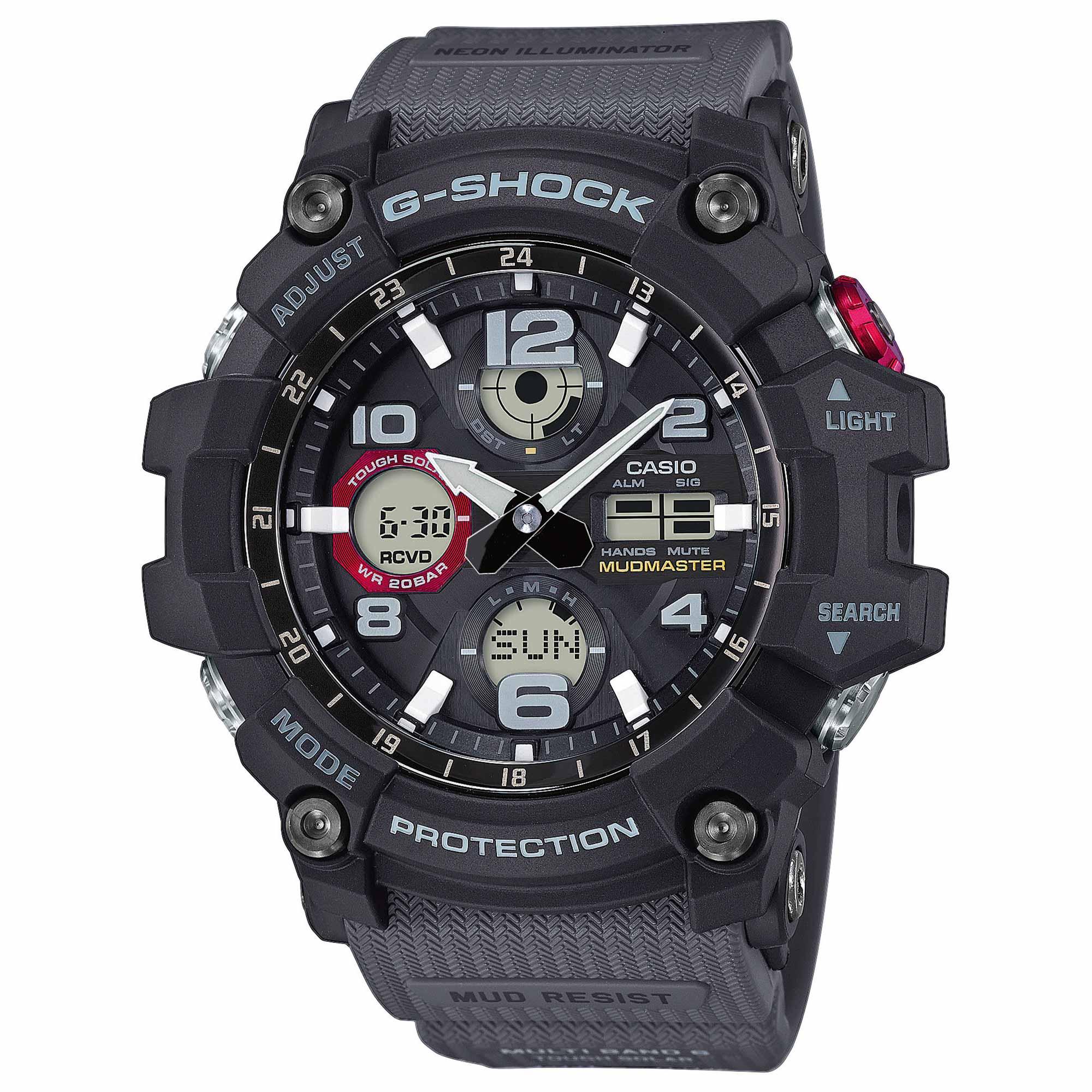 Casio Uhr G-Shock Mudmaster GWG-100-1A8ER schwarz rot