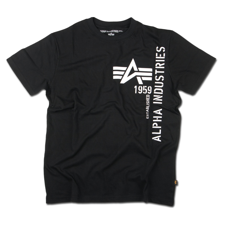 T-Shirt Alpha Basic Print 2 schwarz/weiß