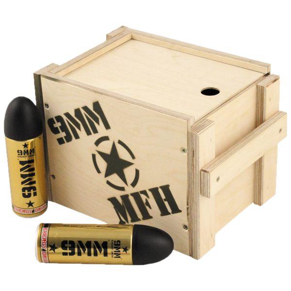 Energy Drink 9mm Holzbox mit Deckel groß 12 Stück