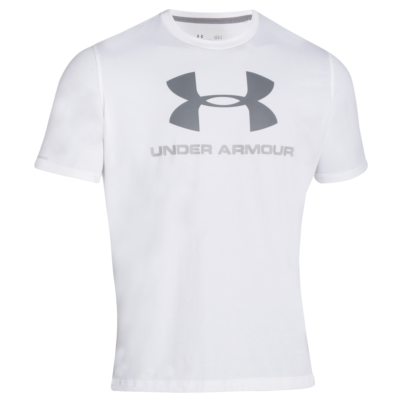 Under Armour Shirt Sportstyle Logo weiß-grau