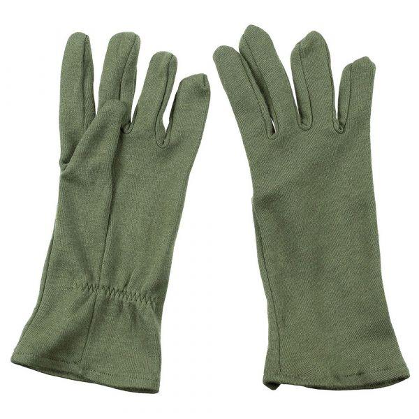 Britische Fingerhandschuhe oliv FR AFV Crew neuwertig