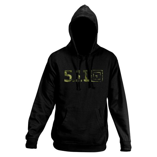 5.11 Pullover Camo Logo Hoodie schwarz