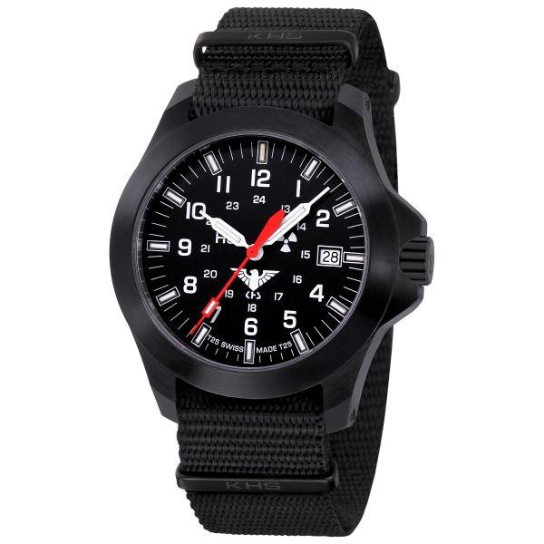 KHS Uhr Black Platoon LDR Natoband schwarz
