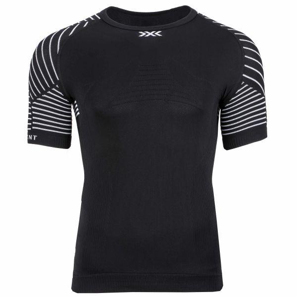 X-Bionic T-Shirt Invent LT Rundhals schwarz weiß