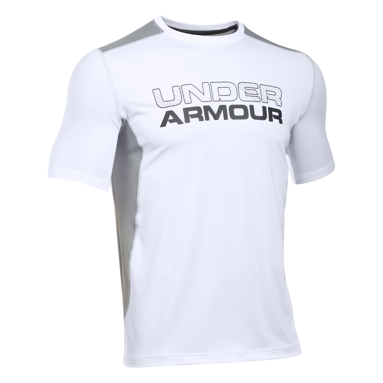 Under Armour Shortsleeve Raid Graphic weiß-grau