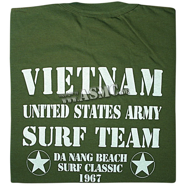 T-Shirt Vietnam Surf Team oliv