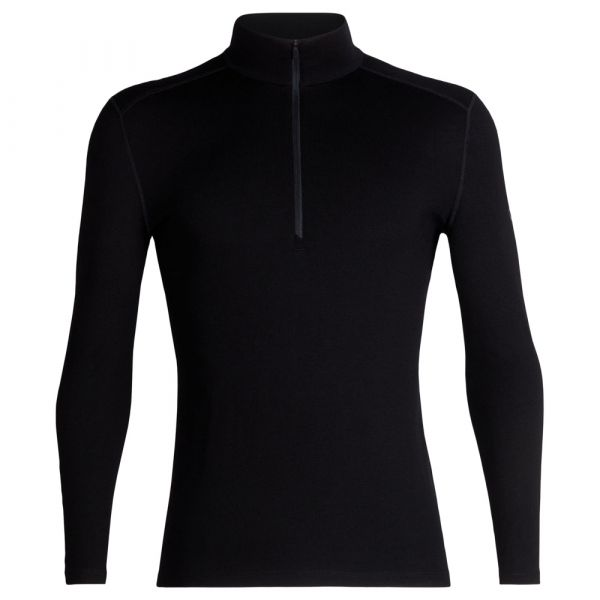 Icebreaker Long Sleeve Tech Half Zip schwarz