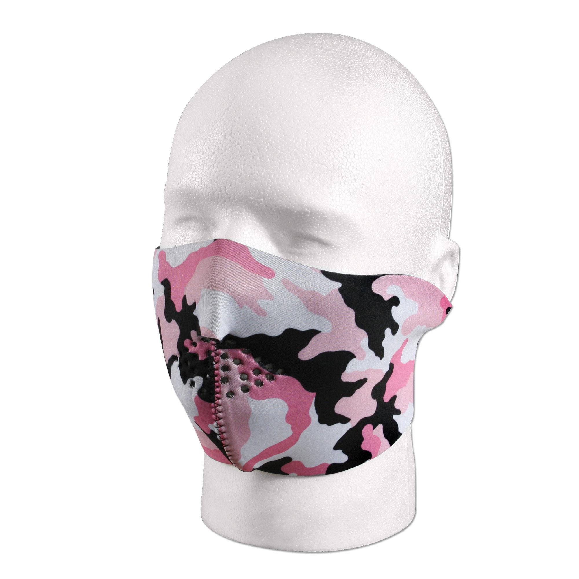 Neopren Gesichtsmaske Rothco pink-camo/schwarz