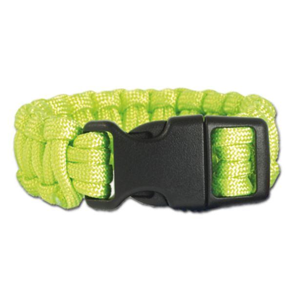 Survival Paracord Bracelet breit grün