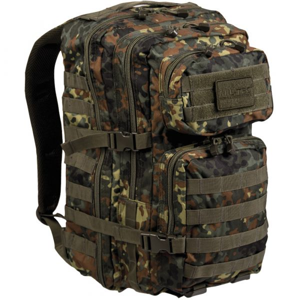 Mil-Tec Rucksack US Assault Pack II flecktarn