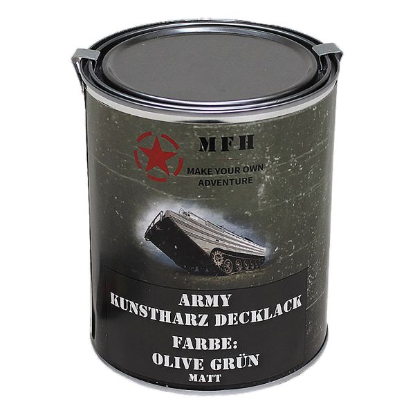 MFH Farbdose Army matt oliv grün 1 L
