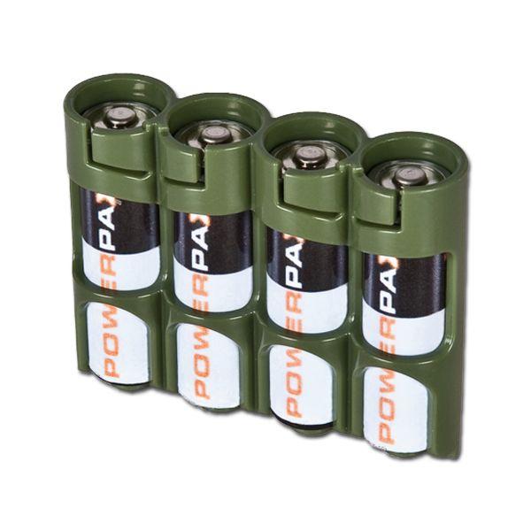 Batteriehalter Powerpax SlimLine 4 x AA oliv