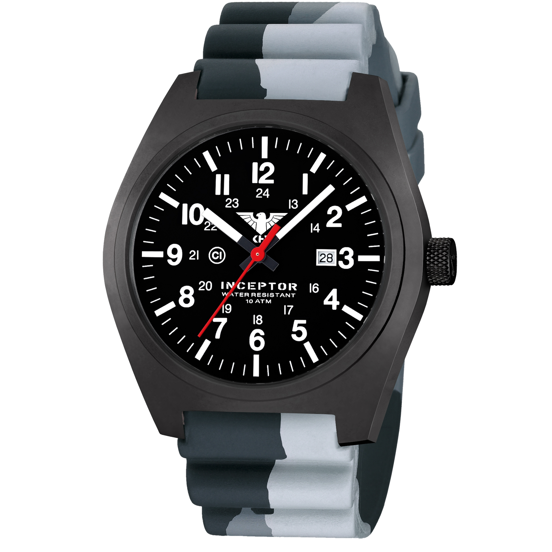 KHS Uhr Inceptor Black Steel Diverband camo grey