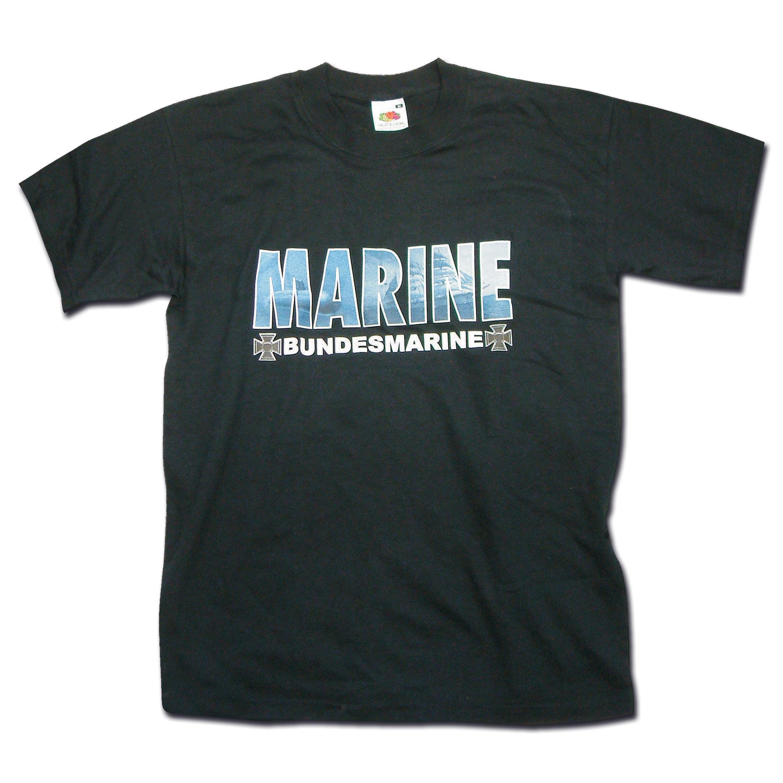 T-Shirt Marine schwarz