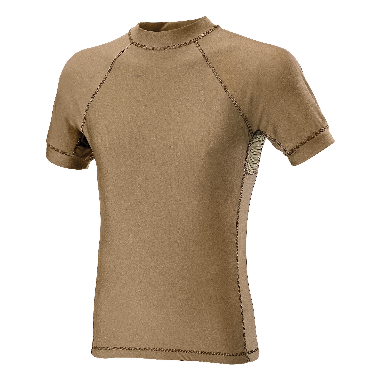 Defcon 5 Kurzarmshirt Lycra+Mesh tan