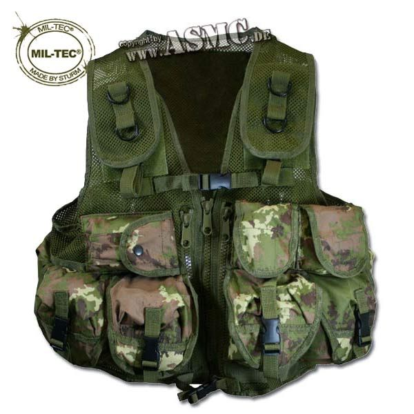Einsatzweste Tactical Mil-Tec vegetato woodland